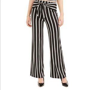 BCX Juniors' Striped Tie-Front Pants